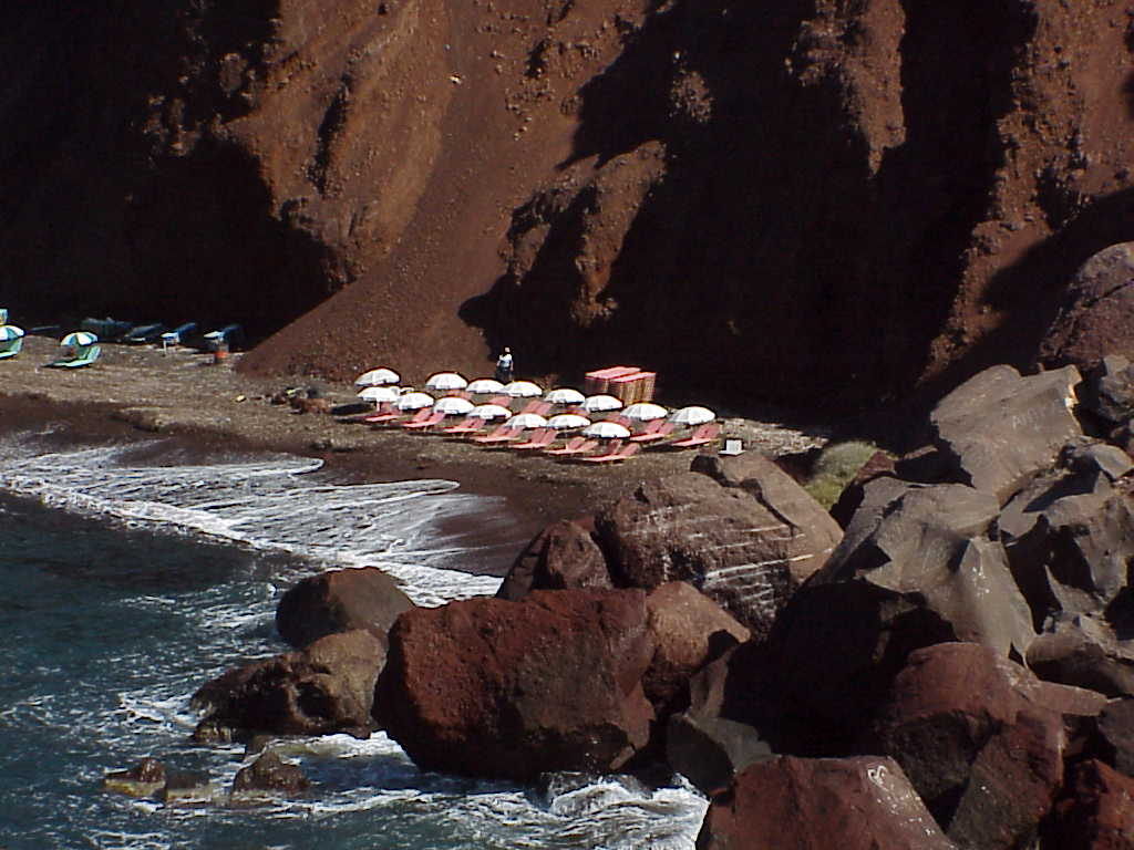 Red Beach, from above, Akrotiri