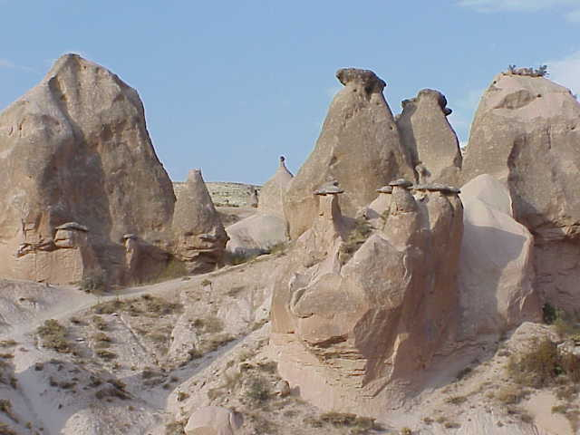 Fairy chimneys,            Devrent