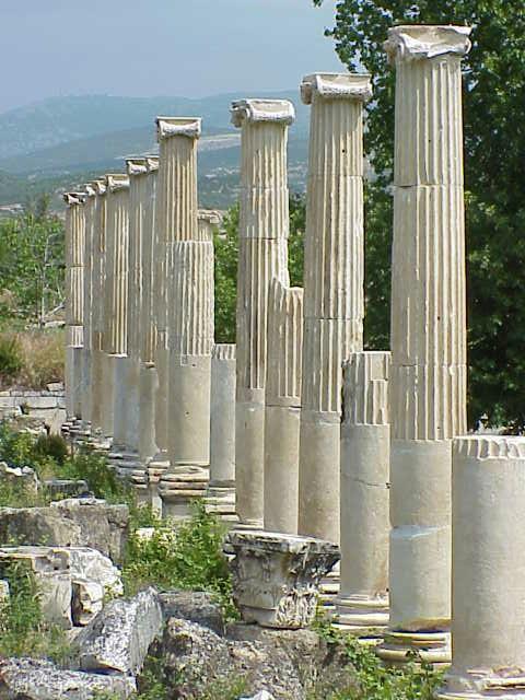 Columns, South agora
