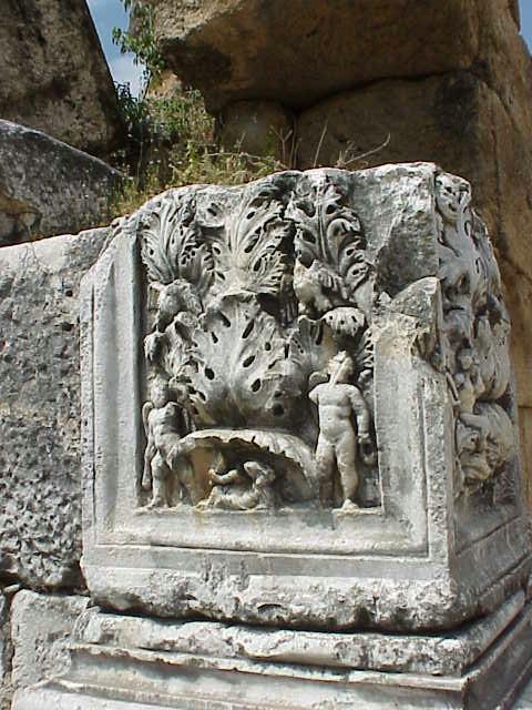 Column detail, Hadrian's baths