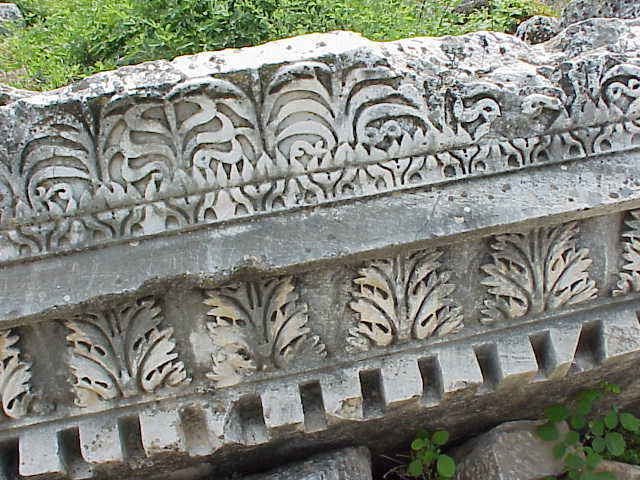 Column detail, Hadrian's baths