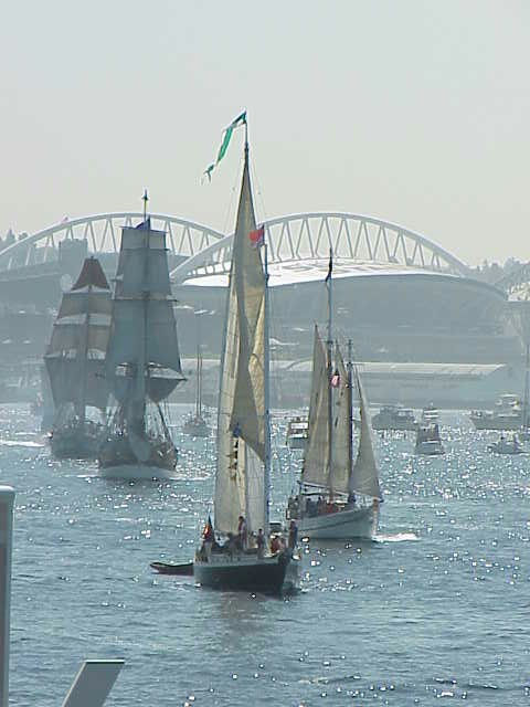 Tall ships, Seahawks Stadium      Tall Ships Festival     Seattle