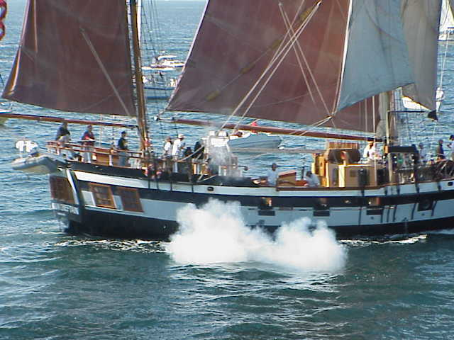 Firing Cannon     Tall Ships Festival     Seattle