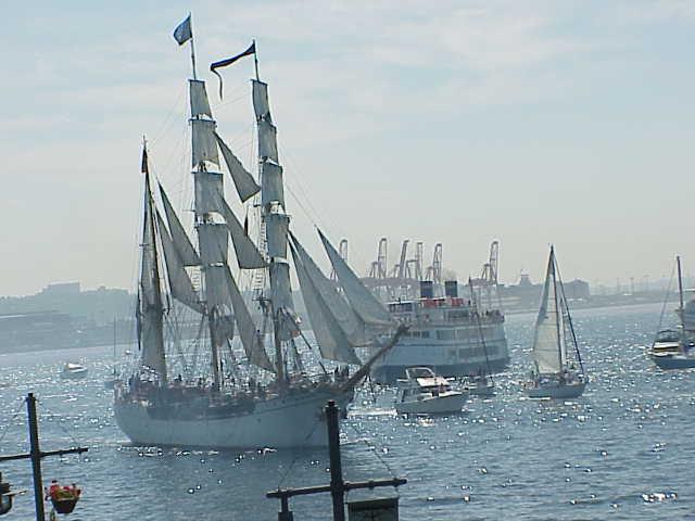 Europa, cruise ship, docks        Tall Ships Festival     Seattle