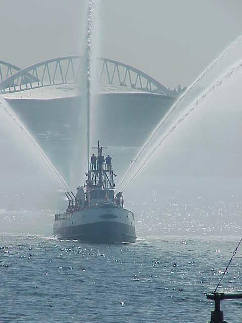Fire boat  Tall Ships Festival    Seattle