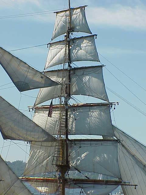 Sails, detail, Europa     Tall Ships Festival     Seattle