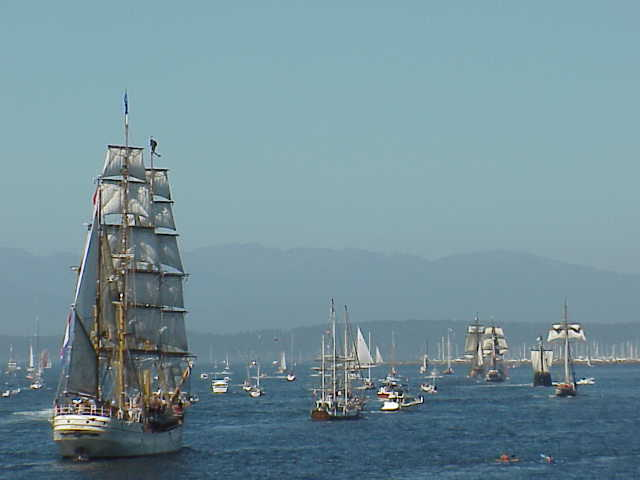 End of Parade of Tall Ships       Tall Ships Festival     Seattle