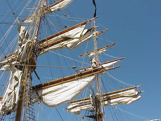 Sails & rigging, detail, Europa   Tall Ships Festival