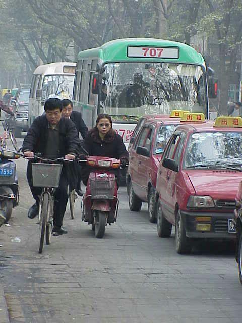Traffic, bicyclists