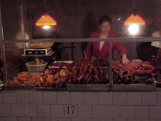 Selling roast duck        Market  Guilin