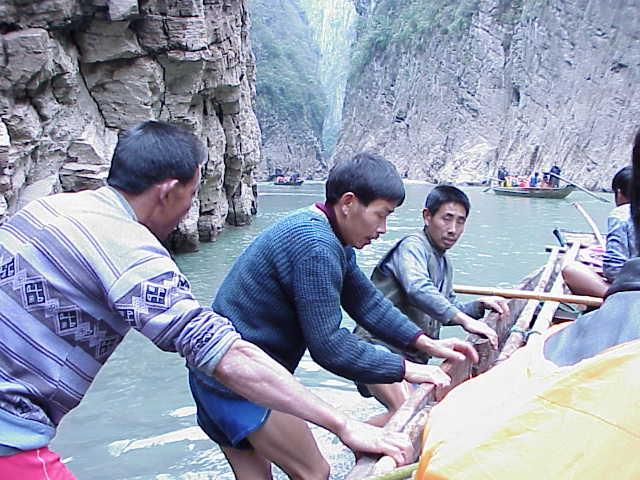 Pulling boats     , Shennong Stream, Badong