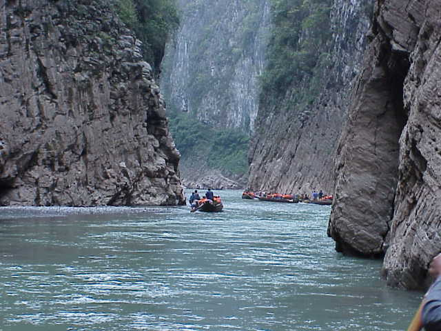 Boats in gorge    , Shennong Stream, Badong