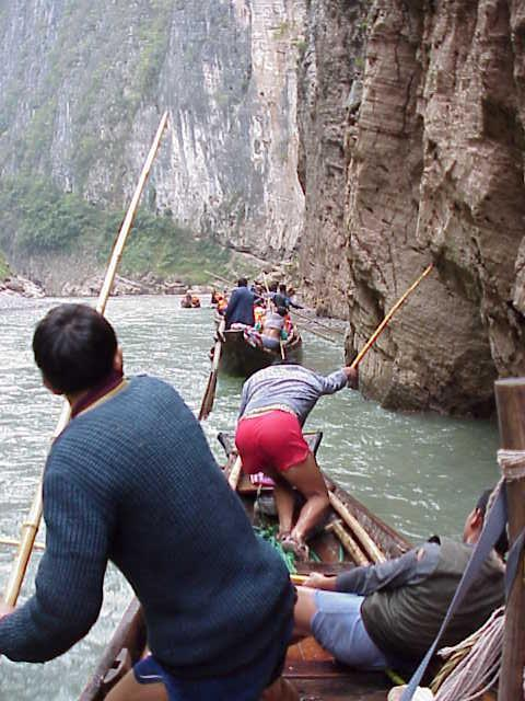 Moving upstream in gorge  , Shennong Stream, Badong