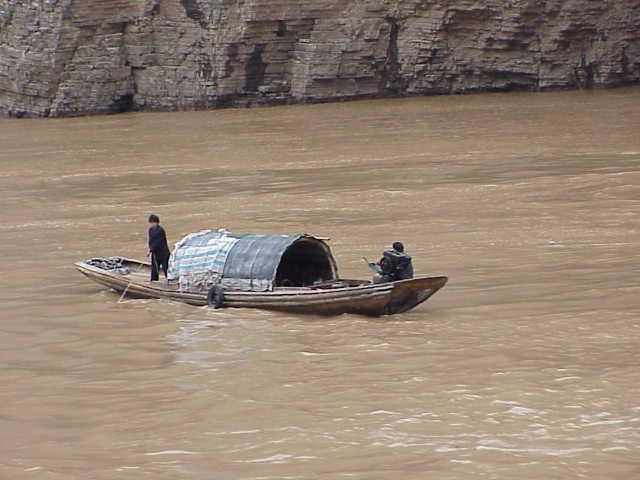 sampan,     Yangtze River
