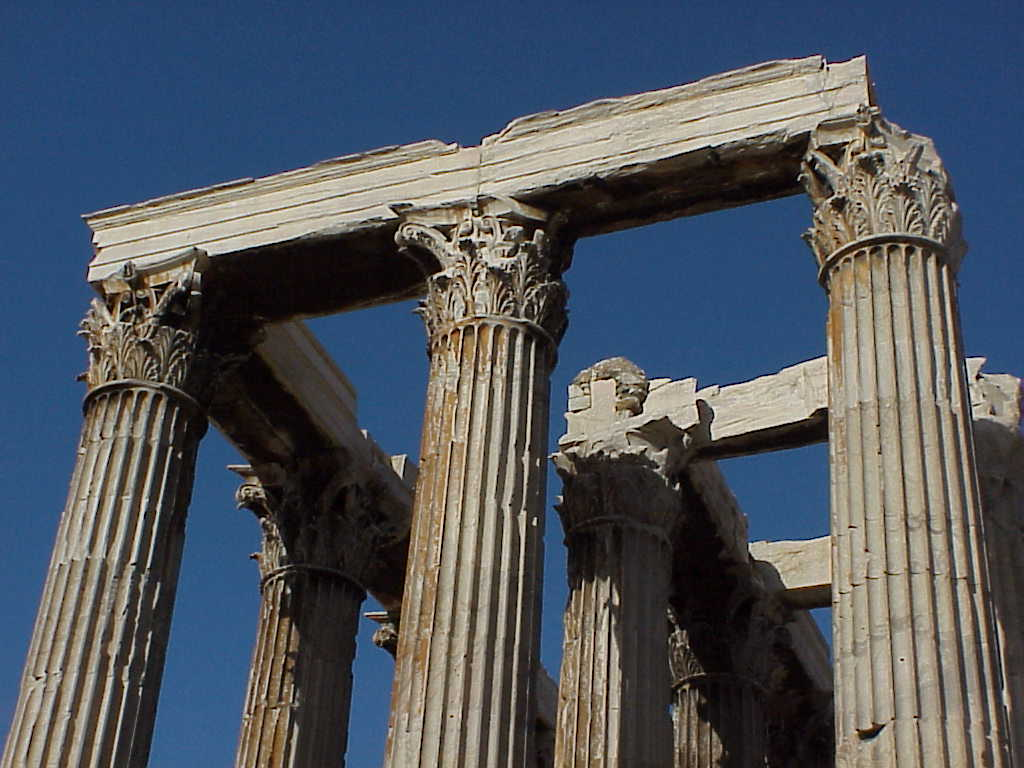 Columns Temple of Olympian Zeus Athens Greece