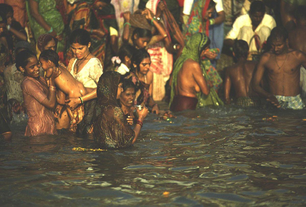 Bathers, Ganges  Varanasi India