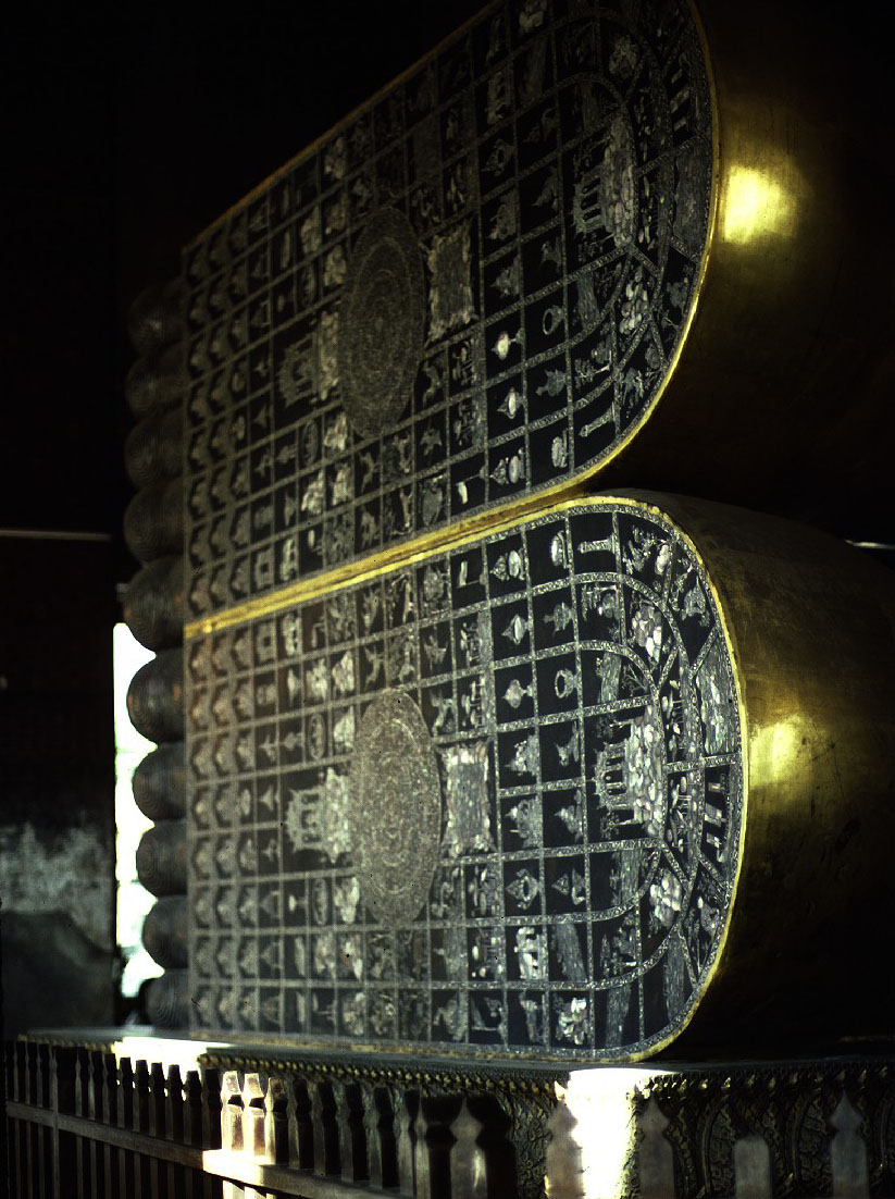 Soles of Reclining Buddha  BANGKOK