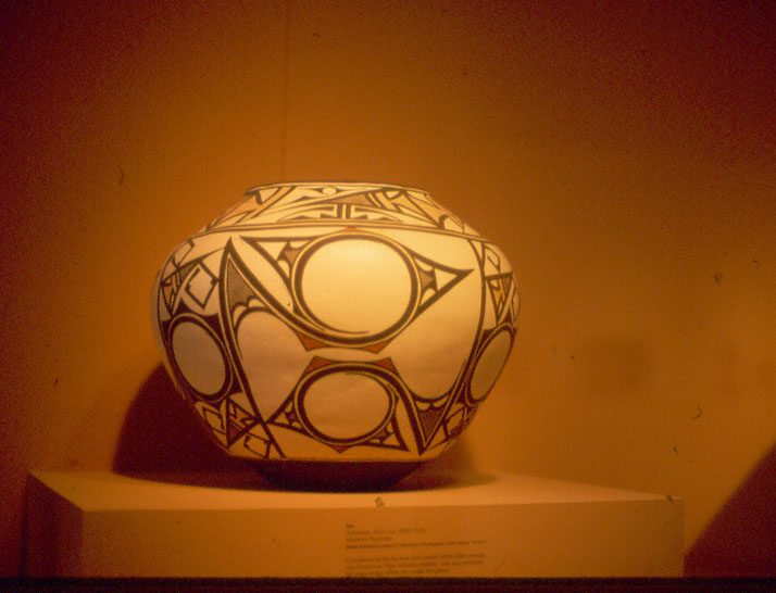 SW Indian pottery Taos Pueblo Taos