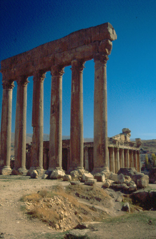 Columns, Temple of Jupiter  BAALBEK