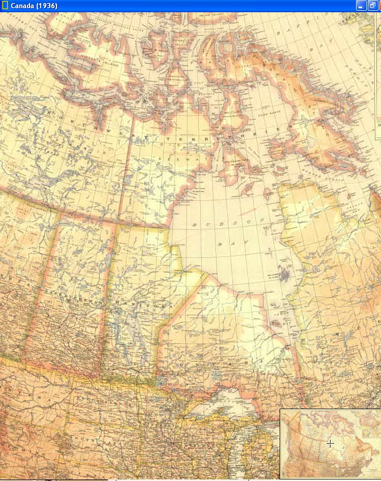 Cascoly map 1936 canadabr maps for sale mapsmap 1936 canadag gumiabroncs Image collections