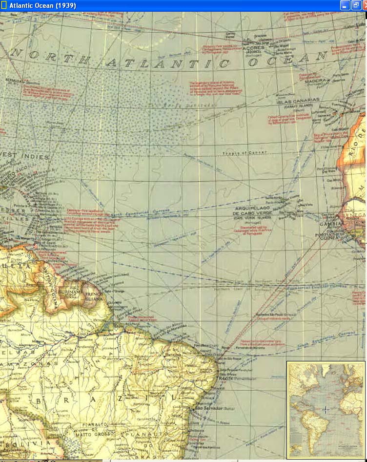 Map - 1939 - Atlantic Ocean