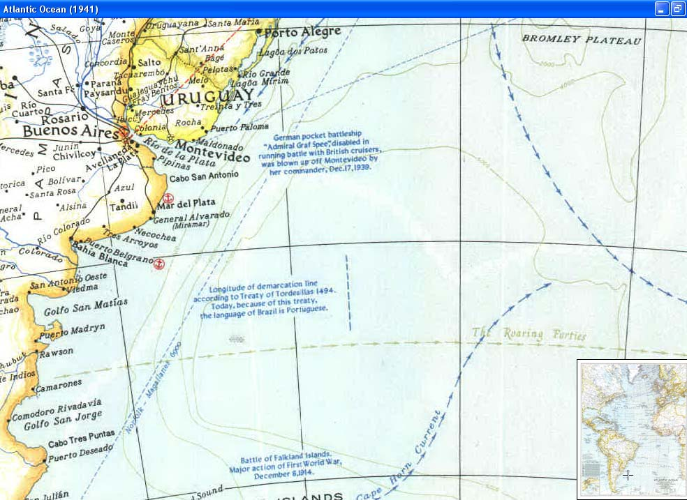 Map - 1941 - Atlantic Ocean