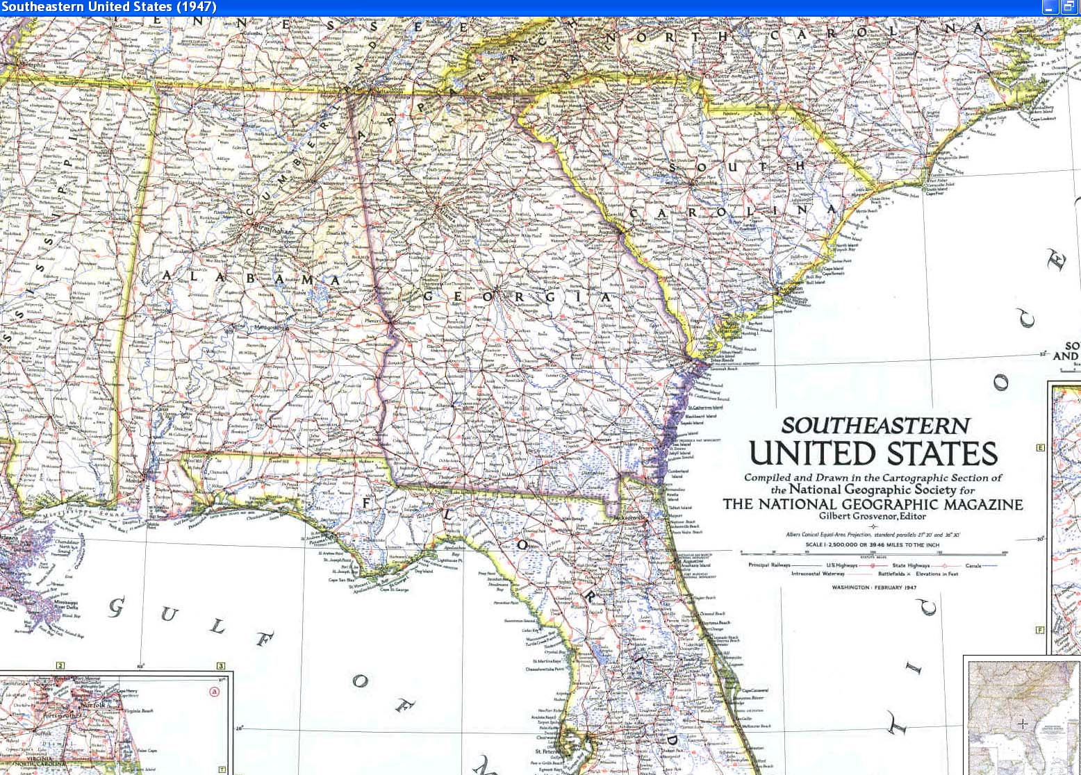 Free Road Map Of Southeastern Us - Road map of eastern us states