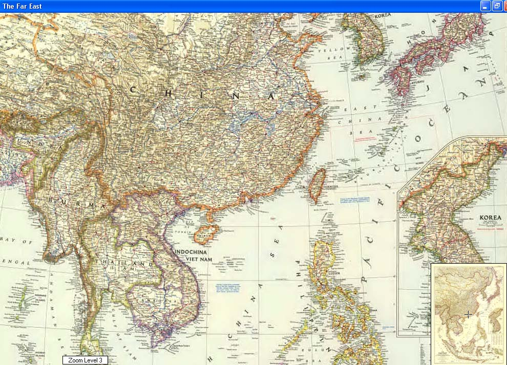 Map - 1952 - Far East<br>41 x 30 1/8