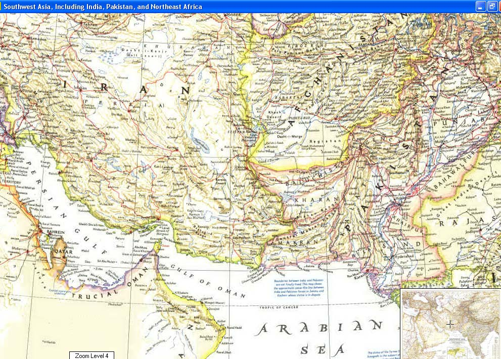 Map - 1952 - Southwest Asia, Including India, Pakistan, and Northeast Africa<br>27 x 37 1/4