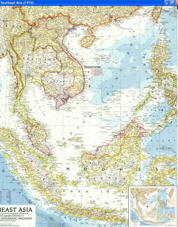 Map - 1955 - Southeast Asia<br>