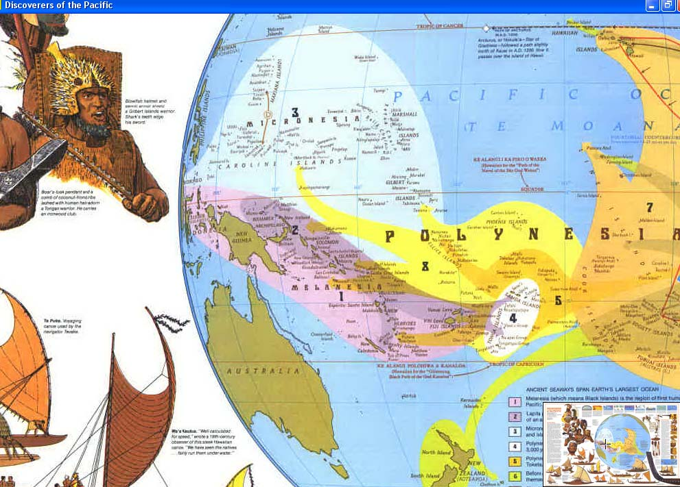 Map - 1974 - Discoverers of the Pacific