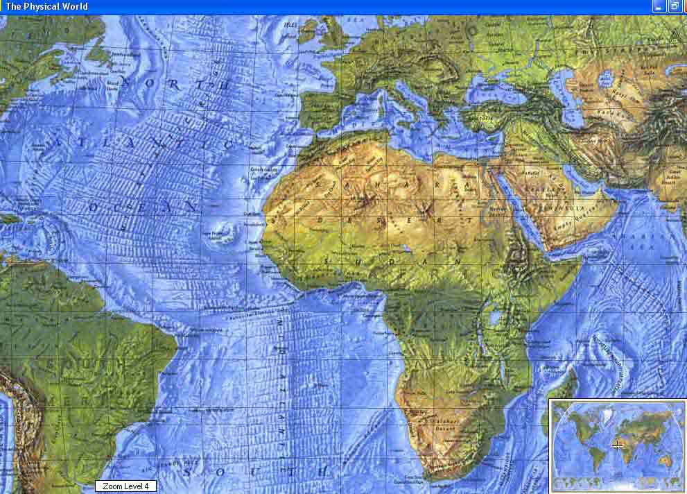 Map - 1975 - World Ocean Floor, Physical World