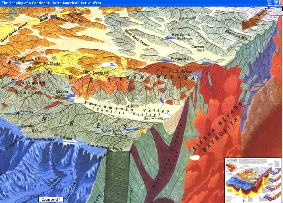 Map - 1985 - Shaping of a Continent - Tectonic plates