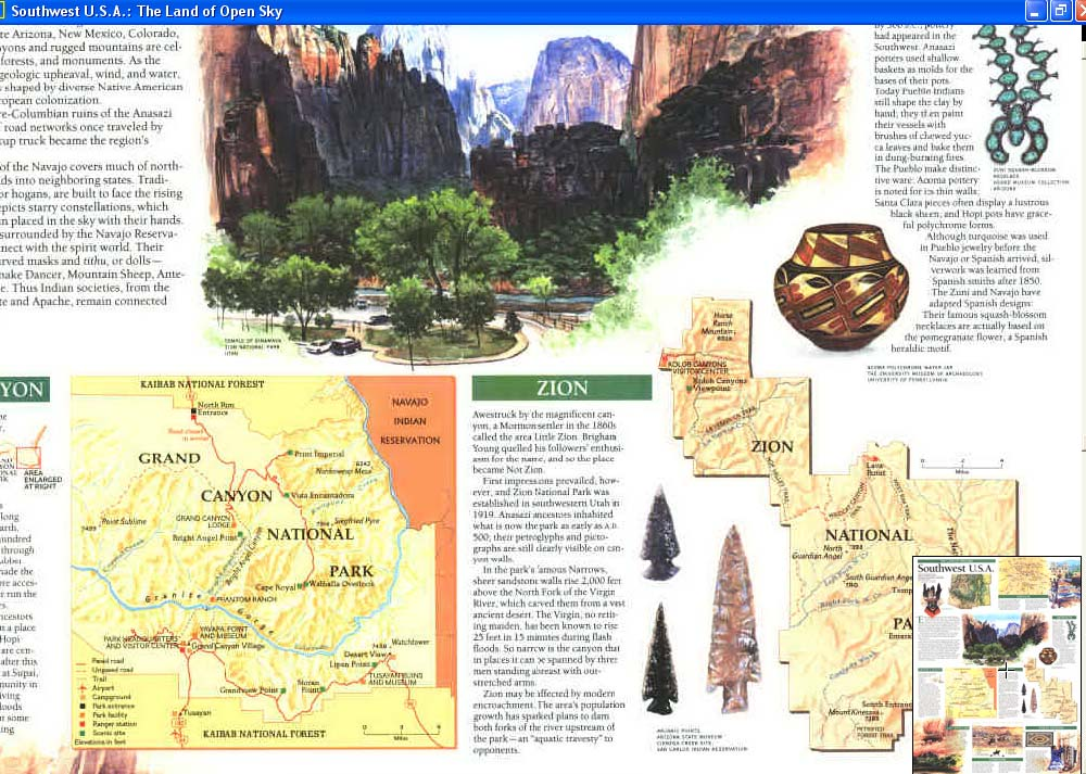 Map - 1992 - Southwest U.S.A.: The Land of Open Sky<br>20 1/4 x 15 5/8