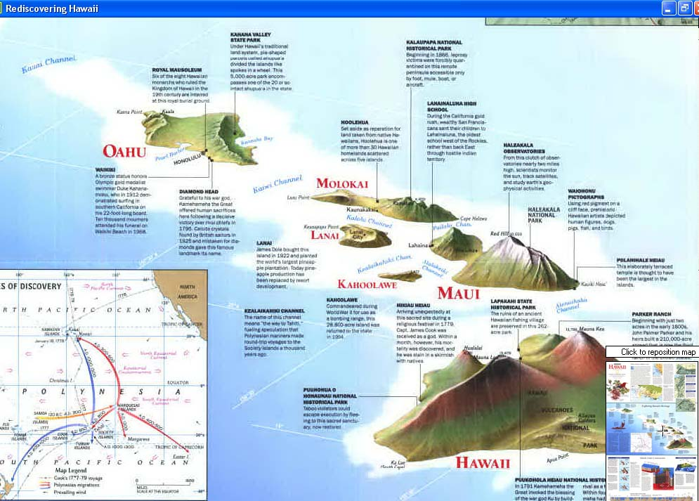 Map - 1995 - Rediscovering Hawaii<br>31 3/8 X 20 1/4