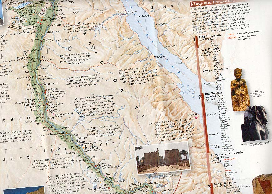 Map - 2001 - Great Peoples of the Past: Egyptians