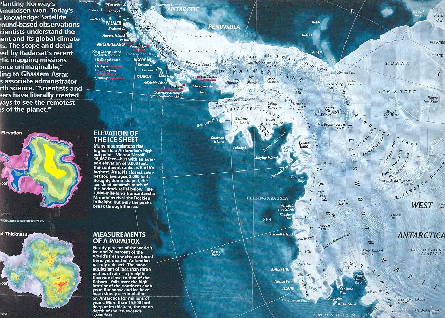 Map - 2002 - Antarctica - National Geographic