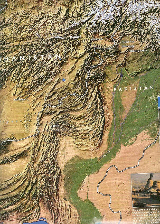 Map - 2001 - Afghanistan - Land in Crisis<br>