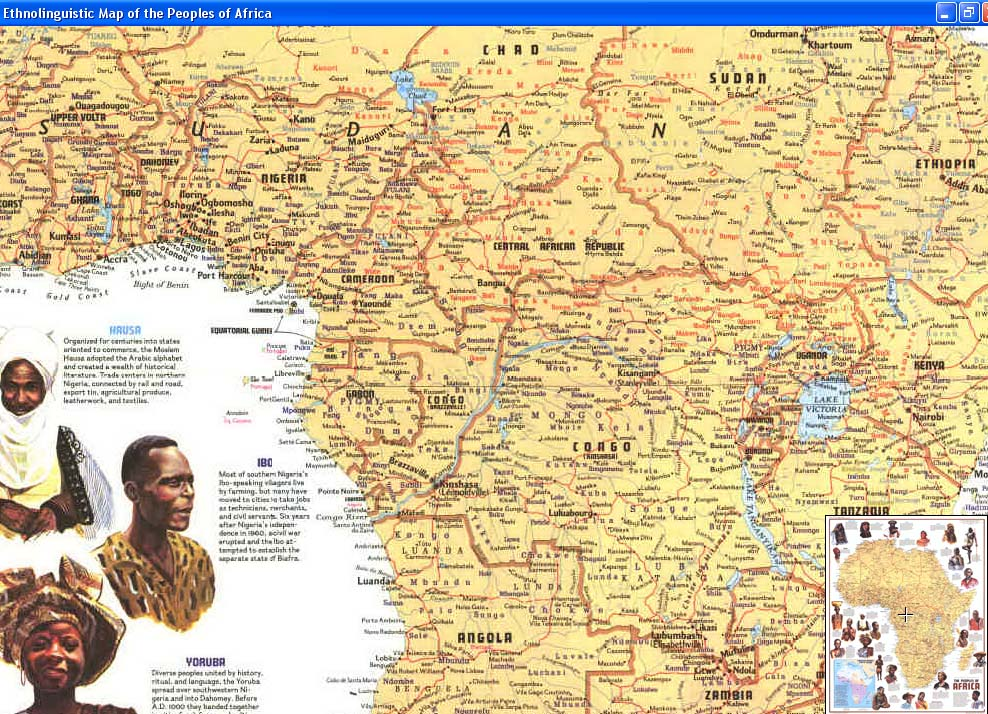 Map - 1971 - Peoples of Africa