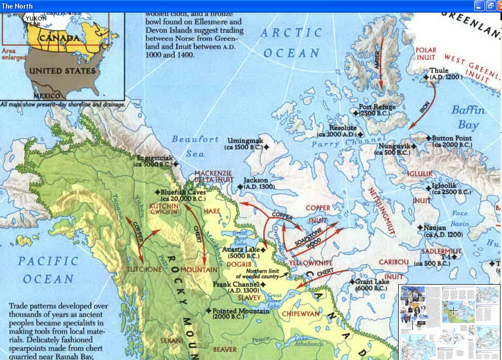 Map - 1983 - Peoples of the Arctic