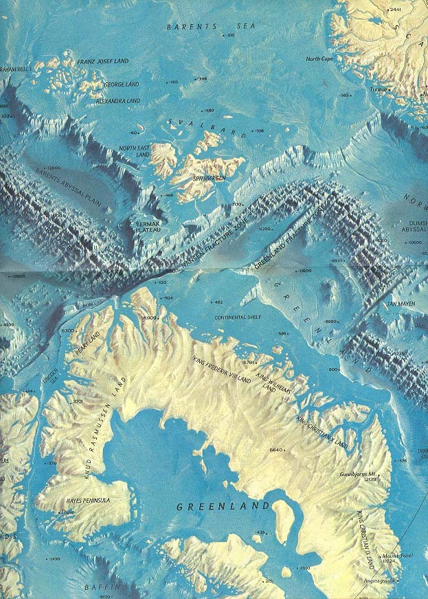 Map - 1971 - Arctic Ocean Floor