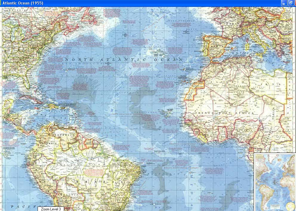 Map - 1955 - Atlantic Ocean