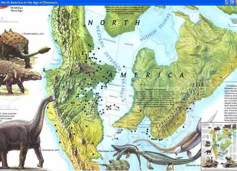 Map - 1993 - North America in the Age of Dinosaurs