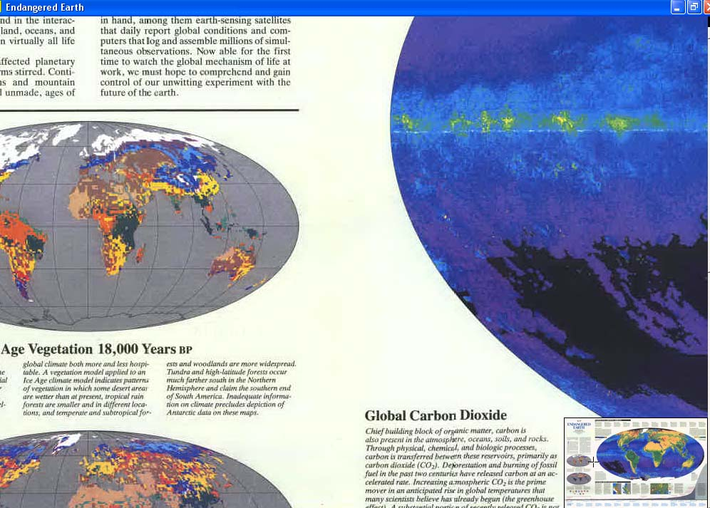 Map - 1988 - World Map - Endangered Earth