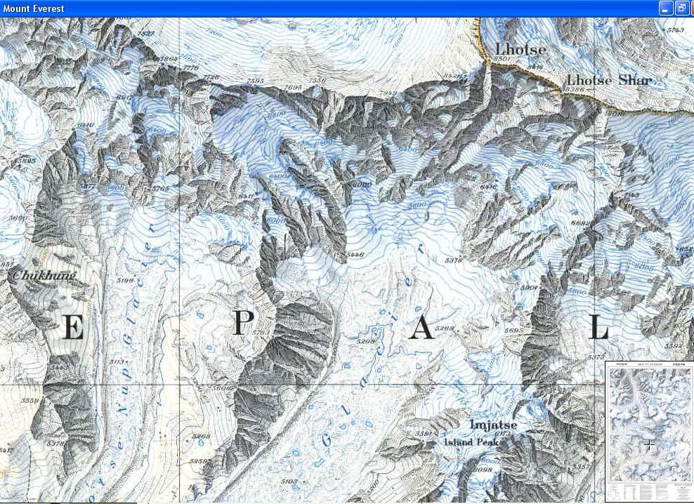 Map - 1988 - Mount Everest<br>36 x 23