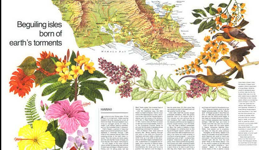 Map - 1976 - Close-Up: U.S.A. Hawaii: Beguiling Isles Born of Earth
