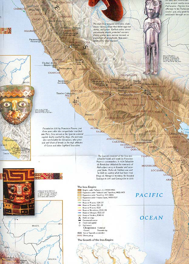 Map - 2002 - Great Peoples of the Past:  Inca