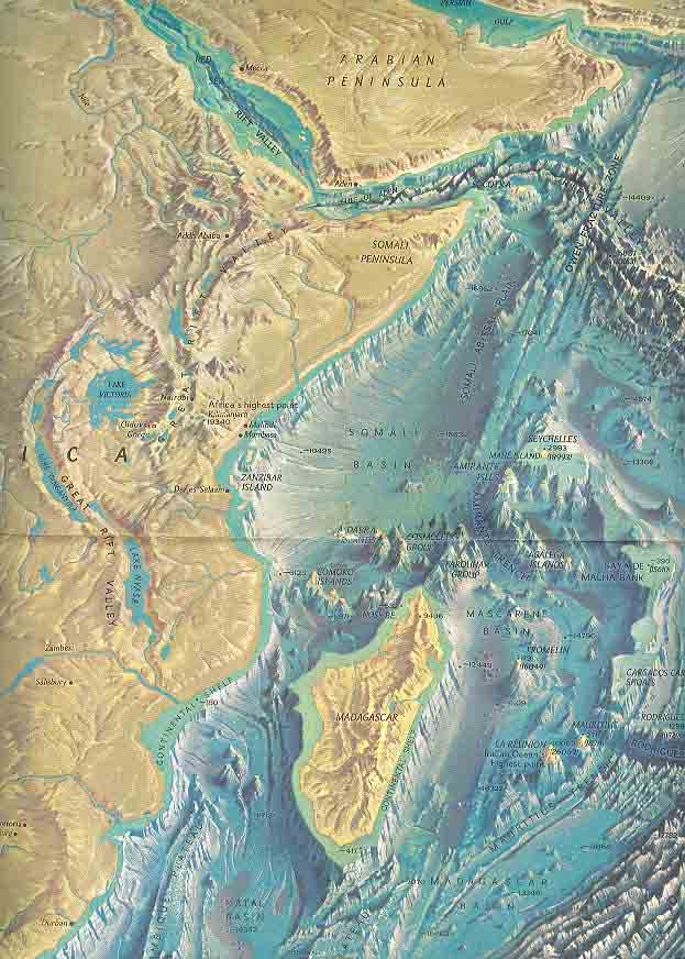 Map - 1967 - Indian Ocean Floor<br>19 x 25