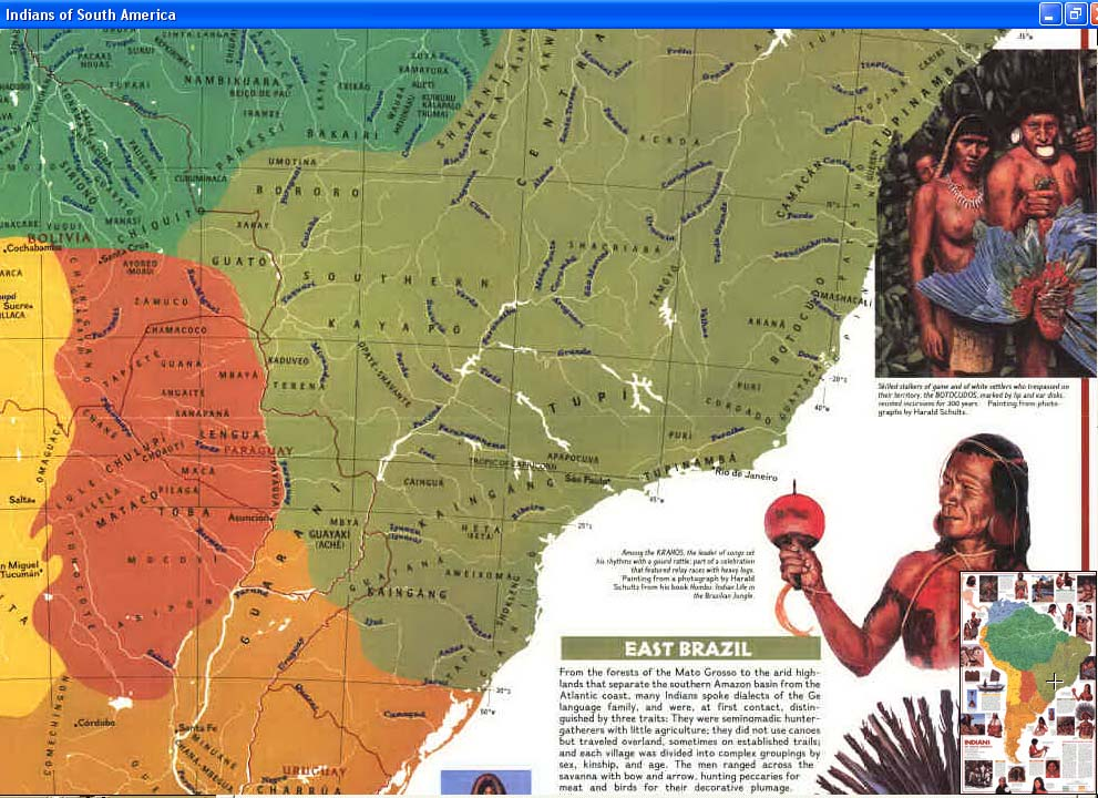 Map - 1982 - Indians of South America