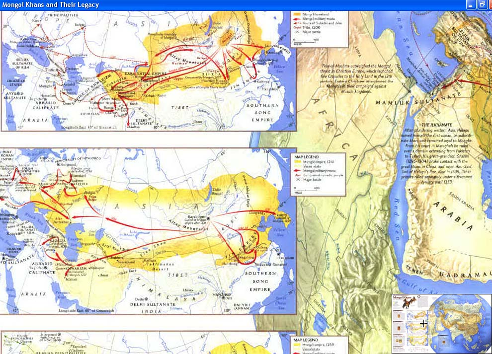 Map - 1996 - Great Peoples of the Past: Mongols